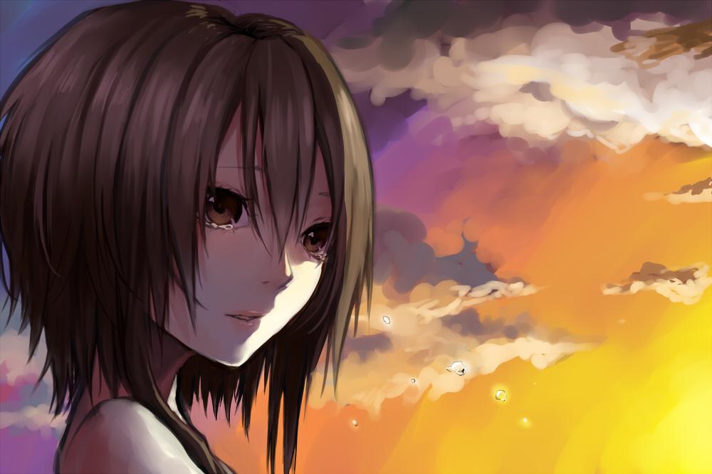 Картинки девушек аниме с карими глазами