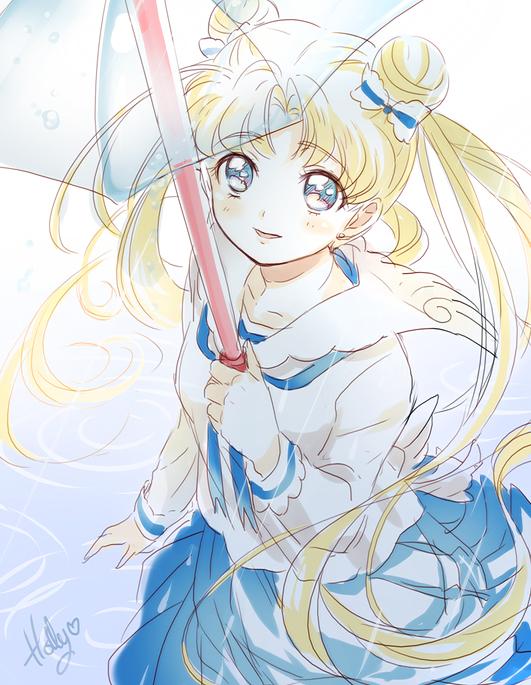 Tags: Anime, Kaze-hime, Bishoujo Senshi Sailor Moon, Tsukino Usagi, Transparent Object, See Through Umbrella, deviantART, Fanart From DeviantART, Fanart