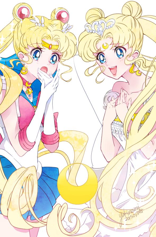 Tags: Anime, Pixiv Id 3111494, Bishoujo Senshi Sailor Moon, Sailor Moon (Character), Tsukino Usagi, Neo-Queen Serenity, Serenity Crystal Tiara, Fanart From Pixiv, Fanart, Mobile Wallpaper, Pixiv