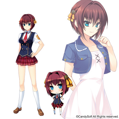 Tags: Anime, Amagai Yukino, Candy Soft, Tsuyokiss, Tsushima Hakari, Cover Image, Official Art