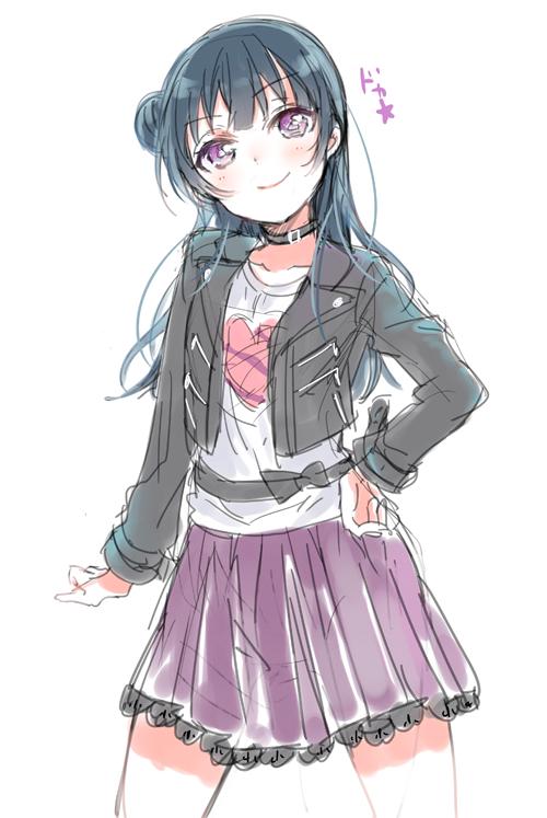Tags: Anime, Nakayama Miyuki, Love Live! Sunshine!!, Tsushima Yoshiko, PNG Conversion, Mobile Wallpaper, Yoshiko Tsushima