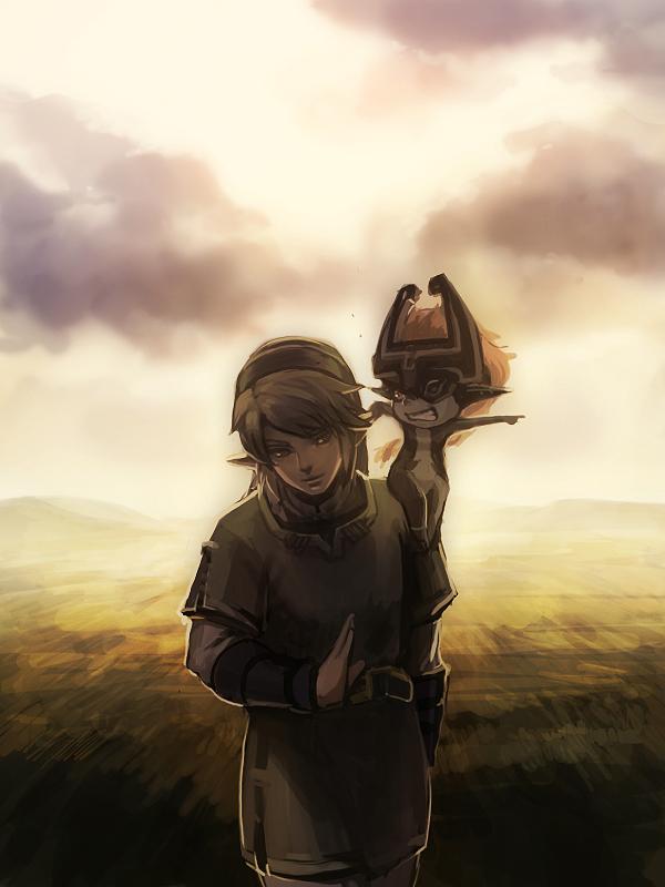 Tags: Anime, Gunsorini, Zelda no Densetsu, Twilight Princess (Game), Link (Twilight Princess), Midna, Link, Twili, Pixiv, Tumblr, Fanart From Pixiv, Fanart