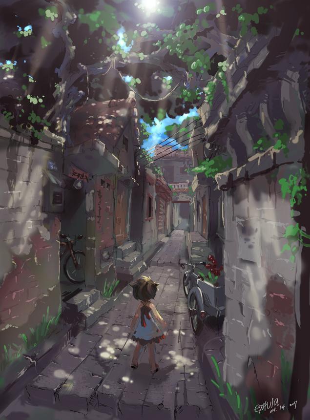 Tags: Anime, Tysontan, Alley, Pixiv, Original