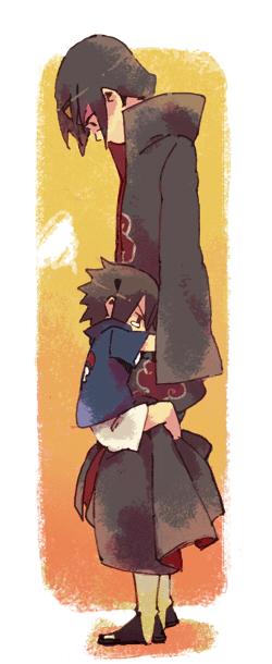 Tags: Anime, Vraqui, NARUTO, Uchiha Sasuke, Uchiha Itachi, Clinging, Ipandy Lusty, Pixiv, Fanart, Uchiha Brothers