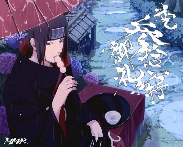Tags: Anime, Mannmaruu, NARUTO, Uchiha Itachi, Outdoors, Open Umbrella, Rain