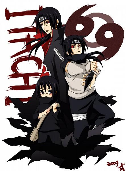 Tags: Anime, Pixiv Id 467723, NARUTO, Uchiha Itachi, Numbers, Sharingan, Kunai