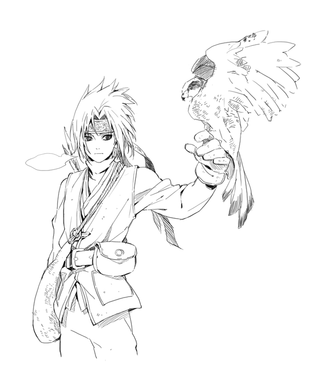 Gambar Anime Naruto Hitam Putih