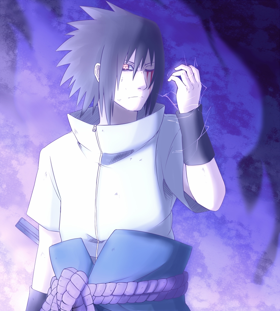 Sasuke crying blood
