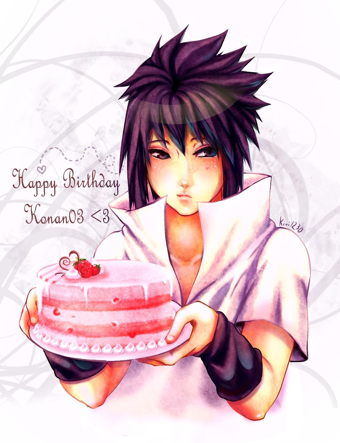 Картинки с днем рождения парню аниме