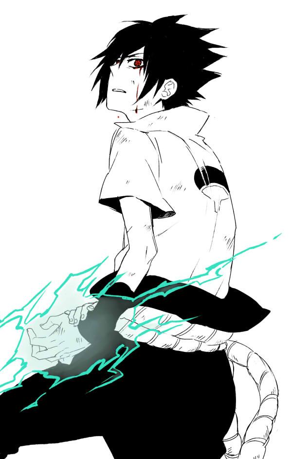 Tags: Anime, Yuinoji, Full Metal Panic!, NARUTO, Uchiha Sasuke, Blood Tears, Fanart, Pixiv, Mobile Wallpaper