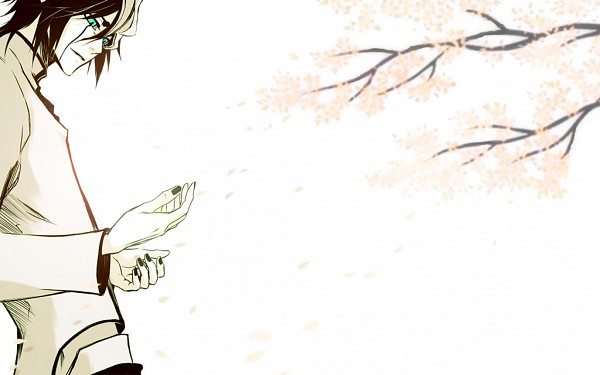 Tags: Anime, Pixiv Id 2111542, BLEACH, Ulquiorra Schiffer, Unnaturally White Skin, Cherry Tree, Black Nails