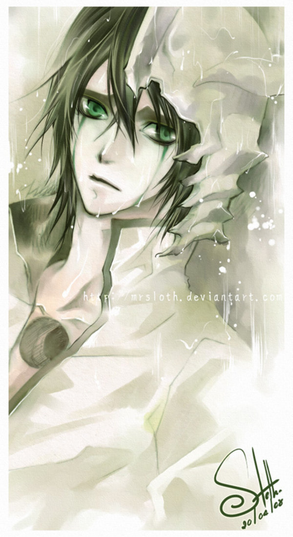Tags: Anime, Mrsloth, BLEACH, Ulquiorra Schiffer, Arrancar Clothes, Hole, deviantART, Fanart, Mobile Wallpaper, Arrancar, Espada, Ulquiorra Cifer