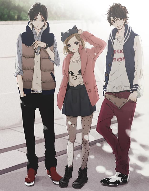 Tags: Anime, Uma-i-boh, Cat Hat, Pixiv, Original