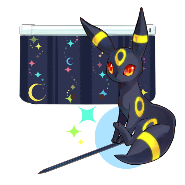 Tags: Anime, Rikovui, Pokémon, Umbreon, Nintendo 3DS, Fanart, Fanart From Pixiv, Pixiv