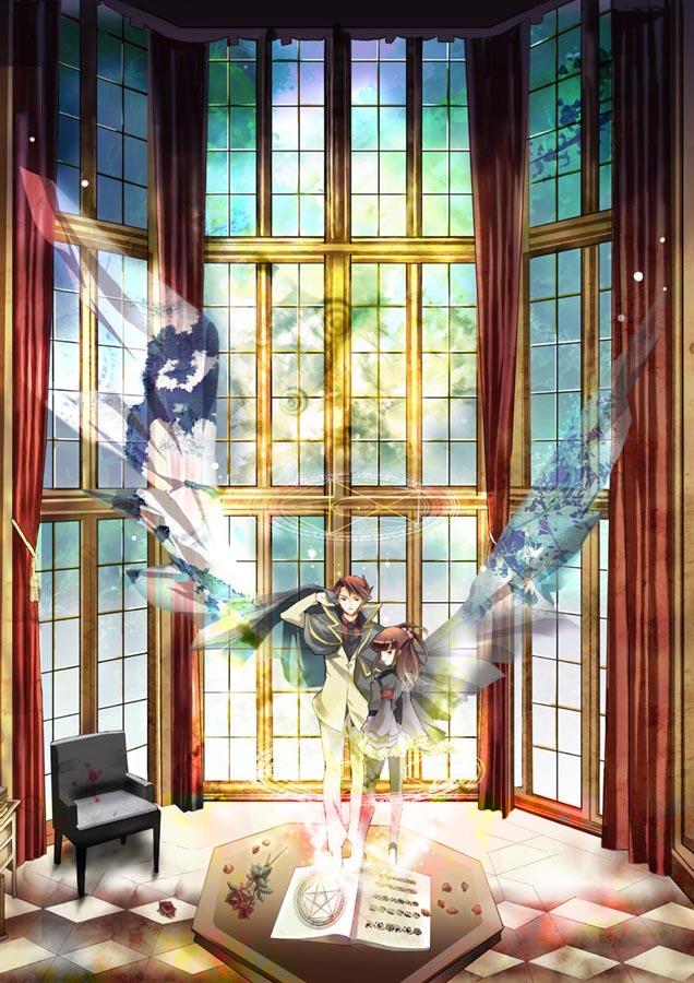Tags: Anime, 07th Expansion, Umineko no Naku Koro ni, Ushiromiya Ange, Ushiromiya Battler, Hole, Mobile Wallpaper, When The Seagulls Cry