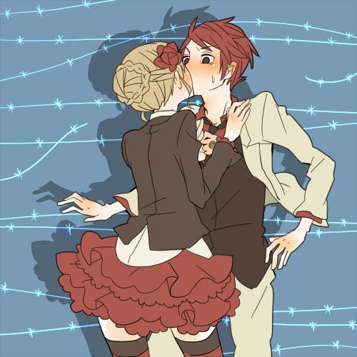 Tags: Anime, Umineko no Naku Koro ni, Surprise Kiss, Pixiv, Fanart, Fanart From Pixiv, When The Seagulls Cry