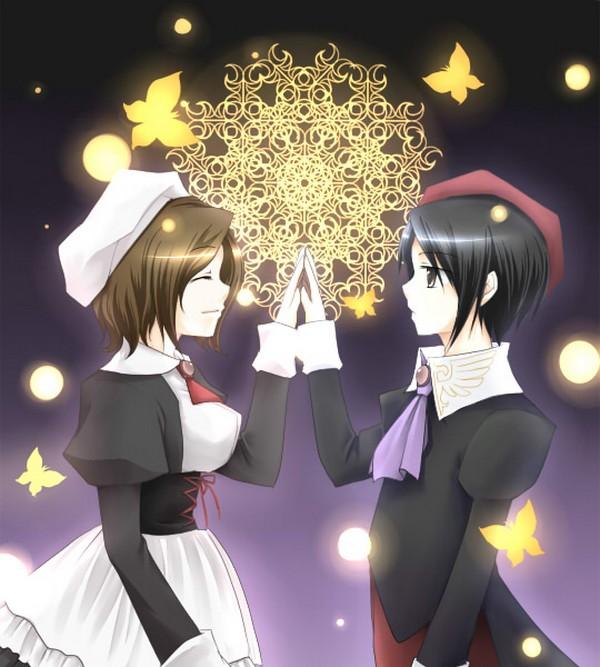 Tags: Anime, 07th Expansion, Umineko no Naku Koro ni, Shannon, Kanon (Umineko), When The Seagulls Cry