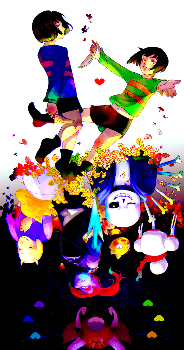 Tags: Anime, Pixiv Id 6020765, Undertale, Undyne, Frisk, Sans, Asgore Dreemurr, Monster Kid, Papyrus, Toriel, Alphys, Chara (Undertale), Fanart From Pixiv