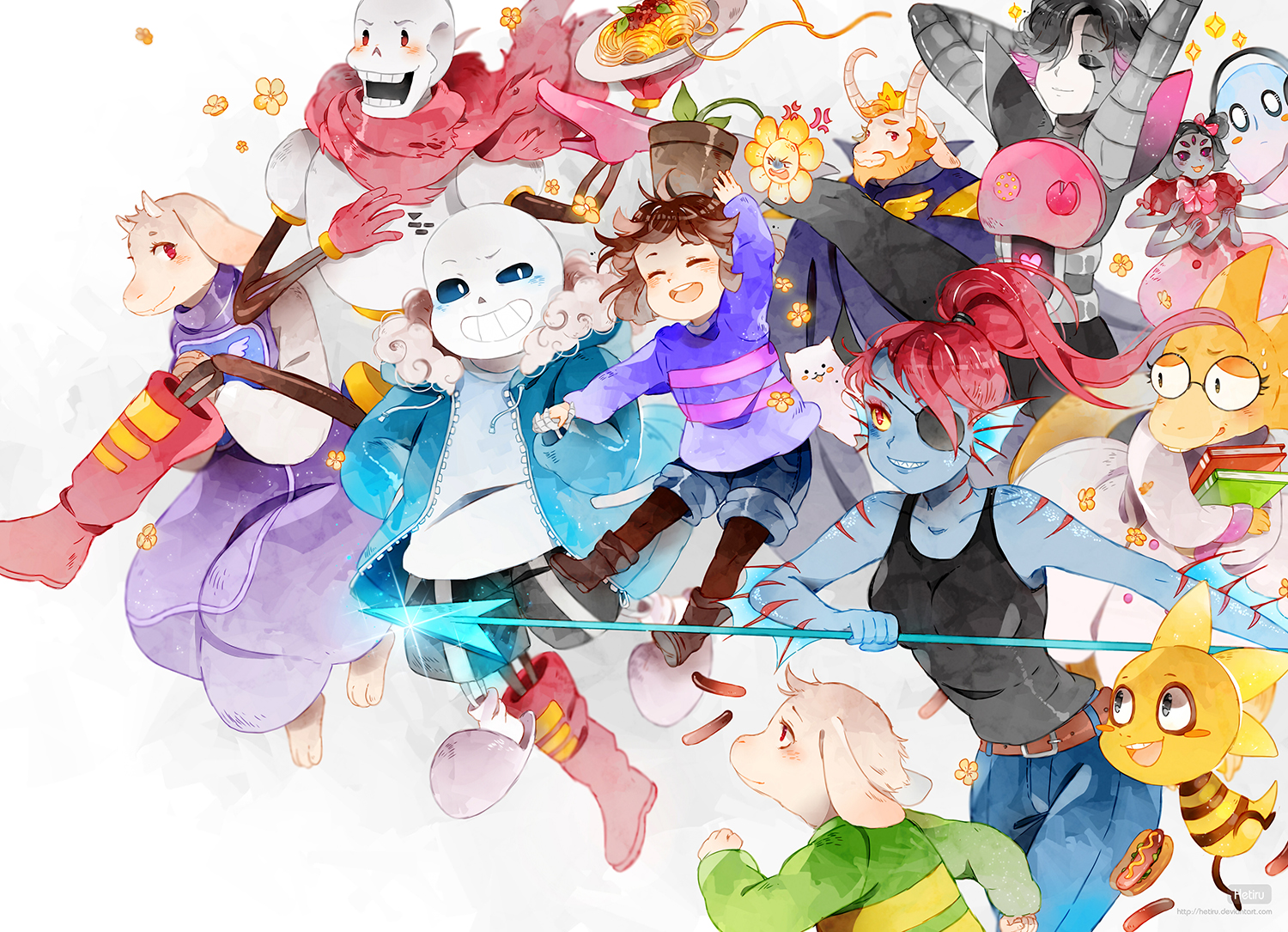 Tags Anime Hetiru Undertale Monster Kid Mettaton Papyrus Toriel