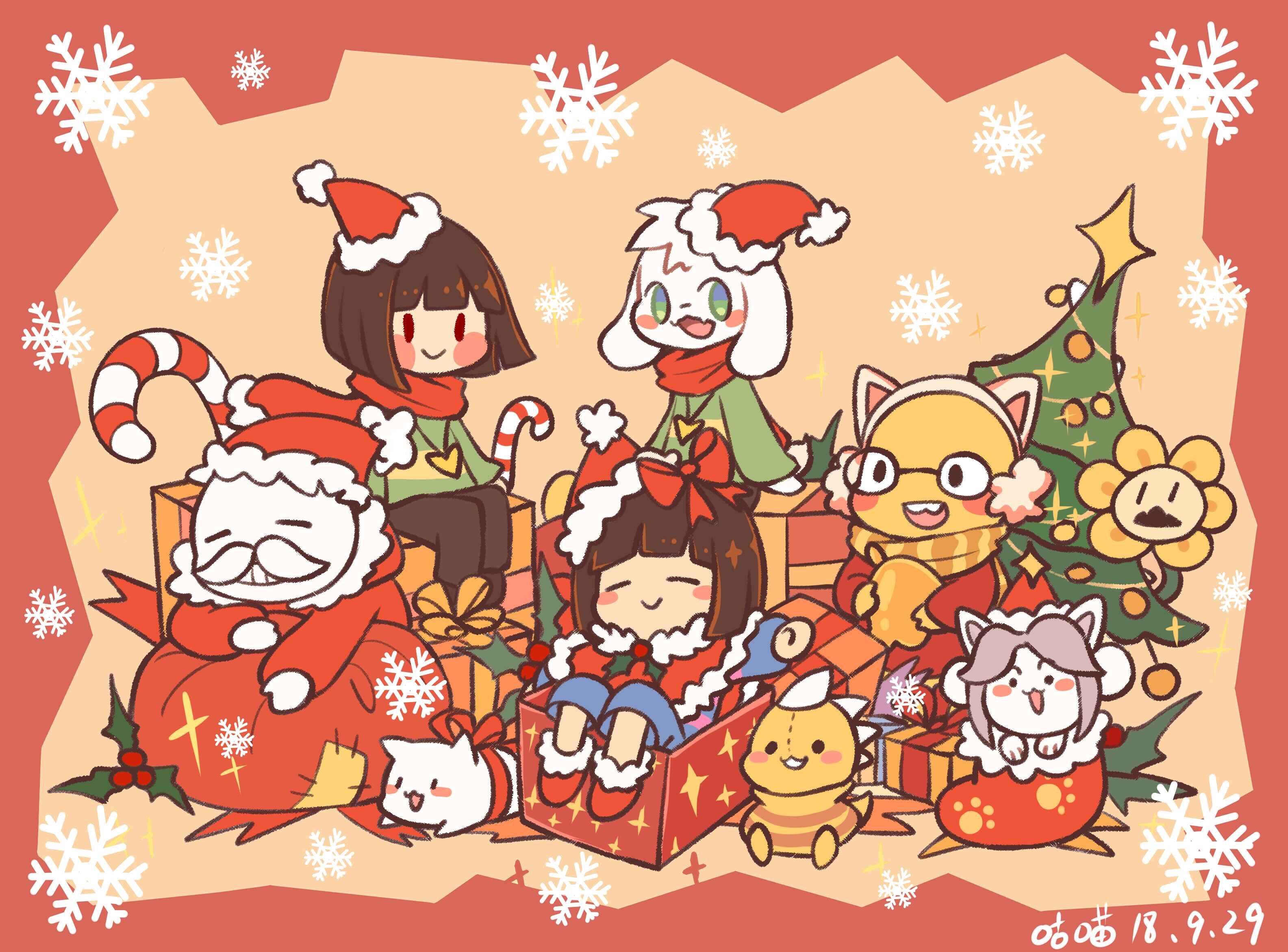Undertale Christmas.Undertale Image 2650920 Zerochan Anime Image Board