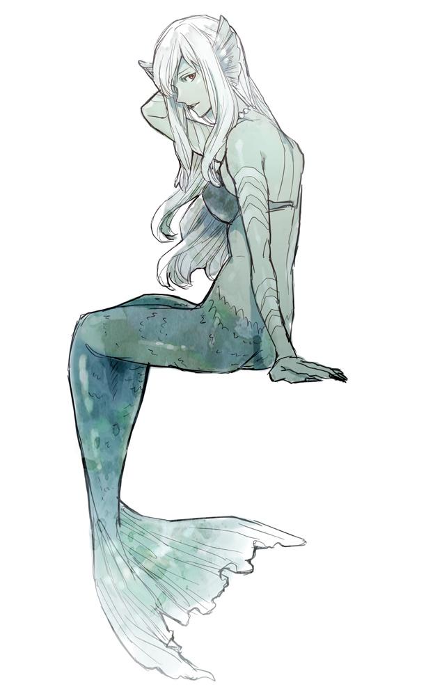 Tags: Anime, Yondemasuyo Azazel-san, Undine (Yondemasuyo Azazel-san), Gray Skin, Mermaid, Head Fins