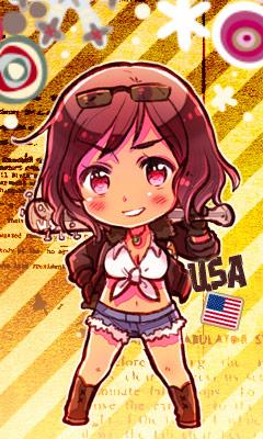 Tags: Anime, Himaruya Hidekaz, Axis Powers: Hetalia, United States (Female), Mobile Wallpaper, Official Art, Player 2, Nyotalia
