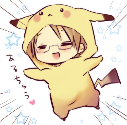 Tags: Anime, Hinazaki, Axis Powers: Hetalia, United States, Pikachu (Cosplay), Pixiv, Fanart