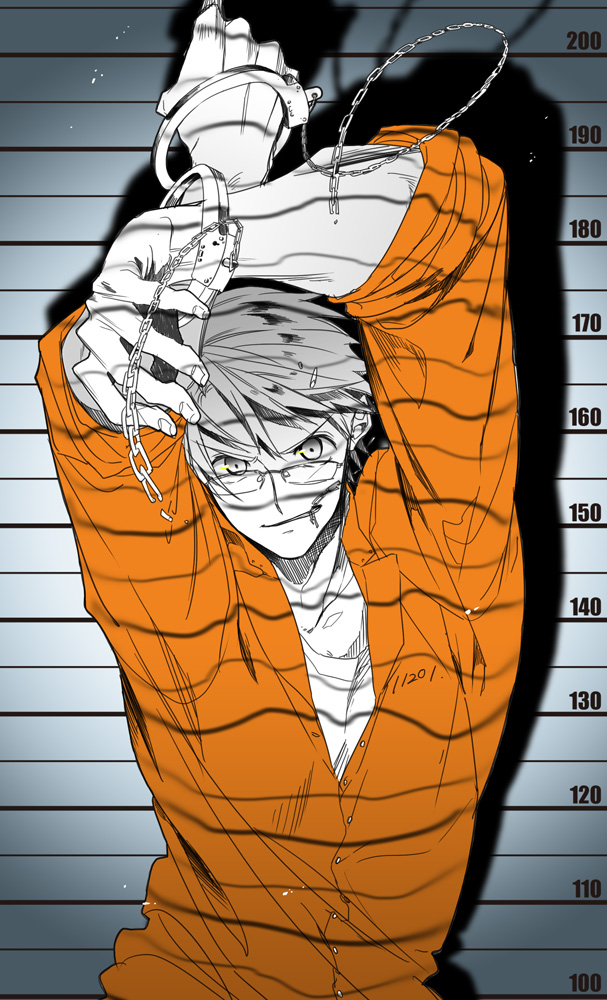 Tags: Anime, Runko, Axis Powers: Hetalia, United States, Height Chart, Jail, Prison Outfit, Mobile Wallpaper
