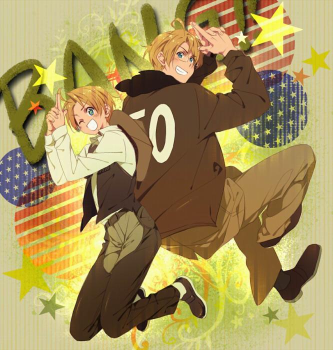 Tags: Anime, Noonoo, Axis Powers: Hetalia, United States, Western, Cowboy, Gun Gesture, Pixiv