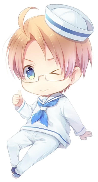 Tags: Anime, yousan, Axis Powers: Hetalia, United States, Sailor Suit, Neckerchief, Compression Artifacts