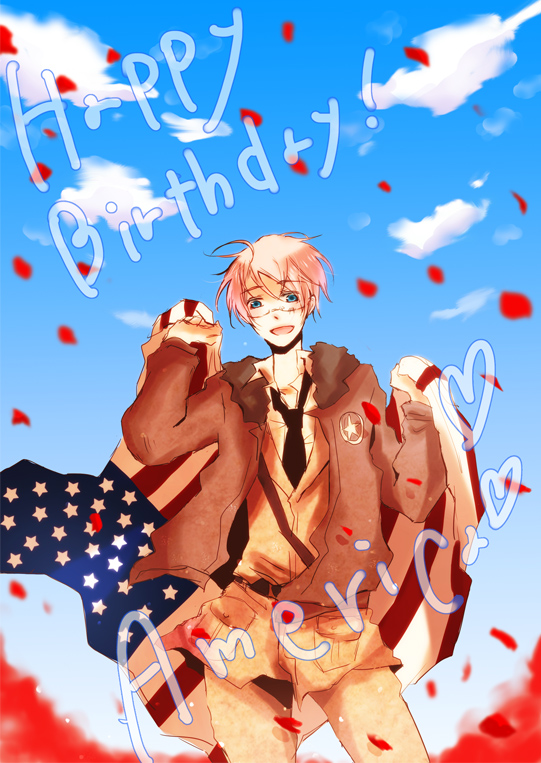 Tags: Anime, Pixiv Id 997462, Axis Powers: Hetalia, United States, Mobile Wallpaper, Allied Forces