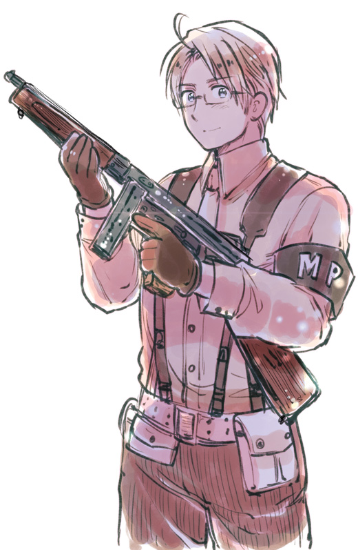 Tags: Anime, Himaruya Hidekaz, Axis Powers: Hetalia, Call of Duty, Tompson, Mobile Wallpaper, Official Art, Allied Forces