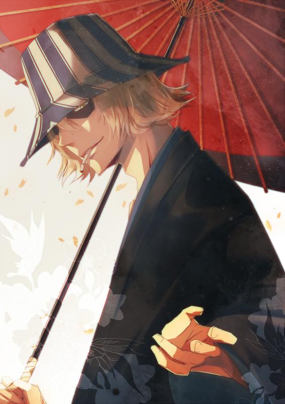 Tags: Anime, Yushiba Miyabi, BLEACH, Urahara Kisuke, Stubble, Fanart From Pixiv, Fanart, Pixiv, Mobile Wallpaper