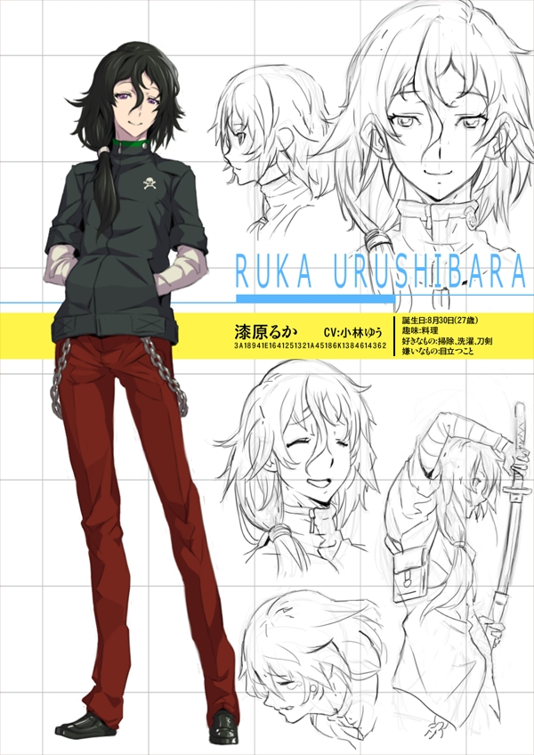 Tags: Anime, Banjoo, Steins;Gate, Urushibara Ruka, Red Pants, Fanart, Traditional Media, Fanart From Pixiv, Pixiv, Character Sheet, Sketch, Mobile Wallpaper