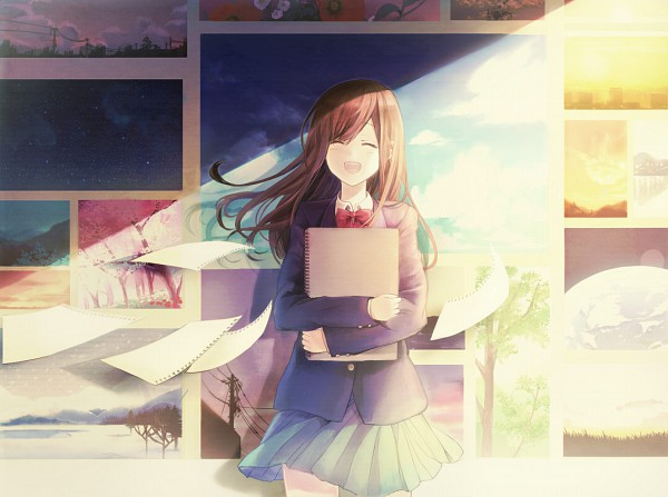 Tags: Anime, Usui (Tripcube), Painting (Object), Photo (Object), Sketchbook