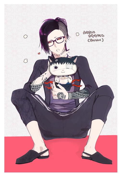 Tags: Anime, 841 (Artist), Tokyo Ghoul, Uta (Tokyo Ghoul), Kaneki Ken, Fanart From Pixiv, Mobile Wallpaper, Pixiv, Fanart