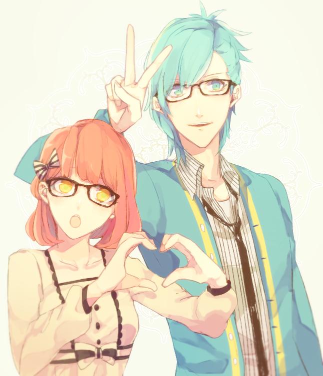 Tags: Anime, Pixiv Id 213494, Uta no☆prince-sama♪, Nanami Haruka, Mikaze Ai, PNG Conversion, Princes Of Song