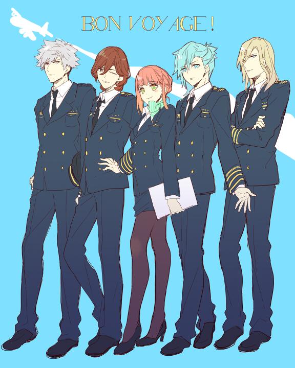 Tags: Anime, Karuha, Uta no☆prince-sama♪, Kurosaki Ranmaru, Nanami Haruka, Mikaze Ai, Kotobuki Reiji, Camus (Utapri), Fanart, Princes Of Song