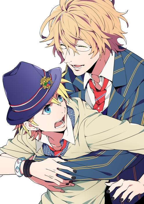 Tags: Anime, Yuzumame, BROCCOLI, Uta no☆prince-sama♪, Kurusu Syo, Shinomiya Natsuki, PNG Conversion, Pixiv, Fanart, Mobile Wallpaper, Princes Of Song