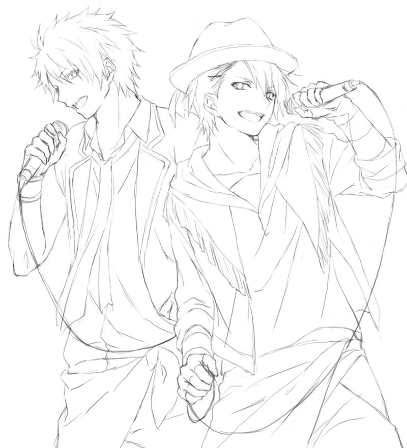 Zerochan Lineart : Uta no☆prince sama♪  zerochan