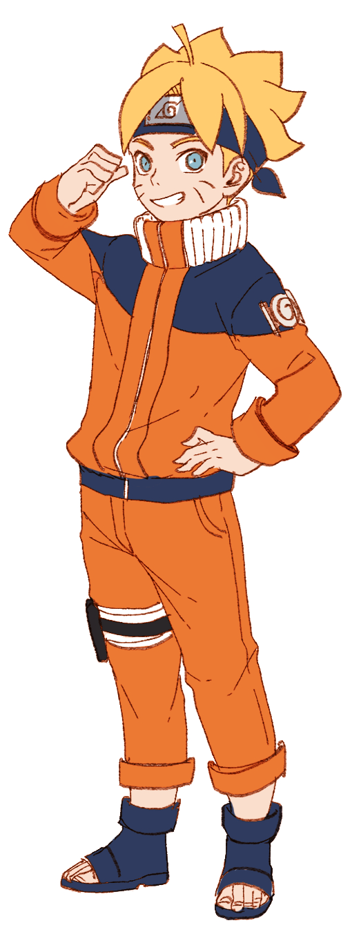 Tags: Anime, Noeunjung93, BORUTO, NARUTO, Uzumaki Boruto, Orange Outerwear, Orange Pants, Uzumaki Naruto (Cosplay), PNG Conversion, Pixiv, Fanart, Fanart From Pixiv