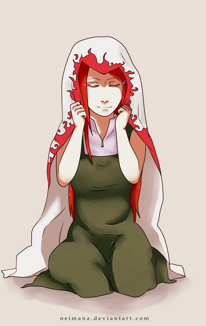 Tags: Anime, Neimana, NARUTO, Uzumaki Kushina, Hokage Outfit, Drawing ...