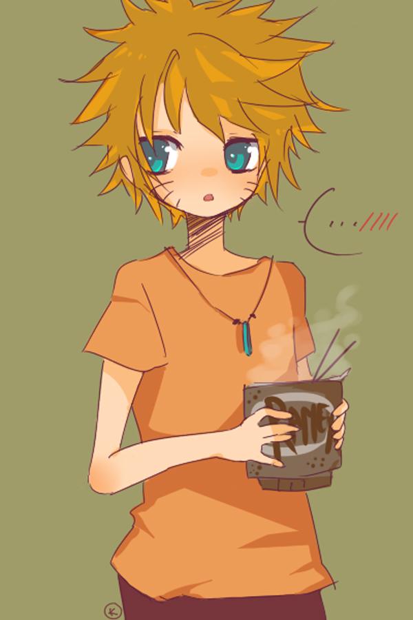 Tags: Anime, NARUTO, Uzumaki Naruto, Ramen, Groceries, Cup Noodle, Red Pants, Steam, Mobile Wallpaper, Fanart