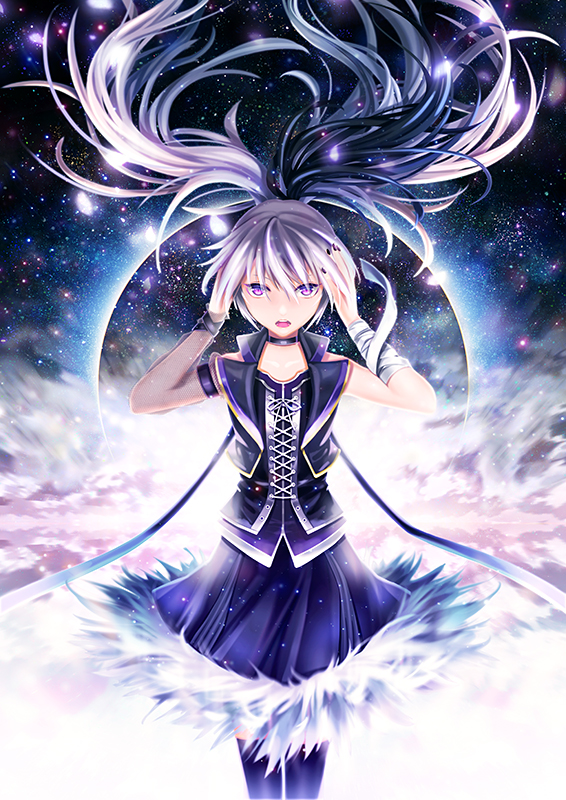 v flower vocaloid zerochan anime image board