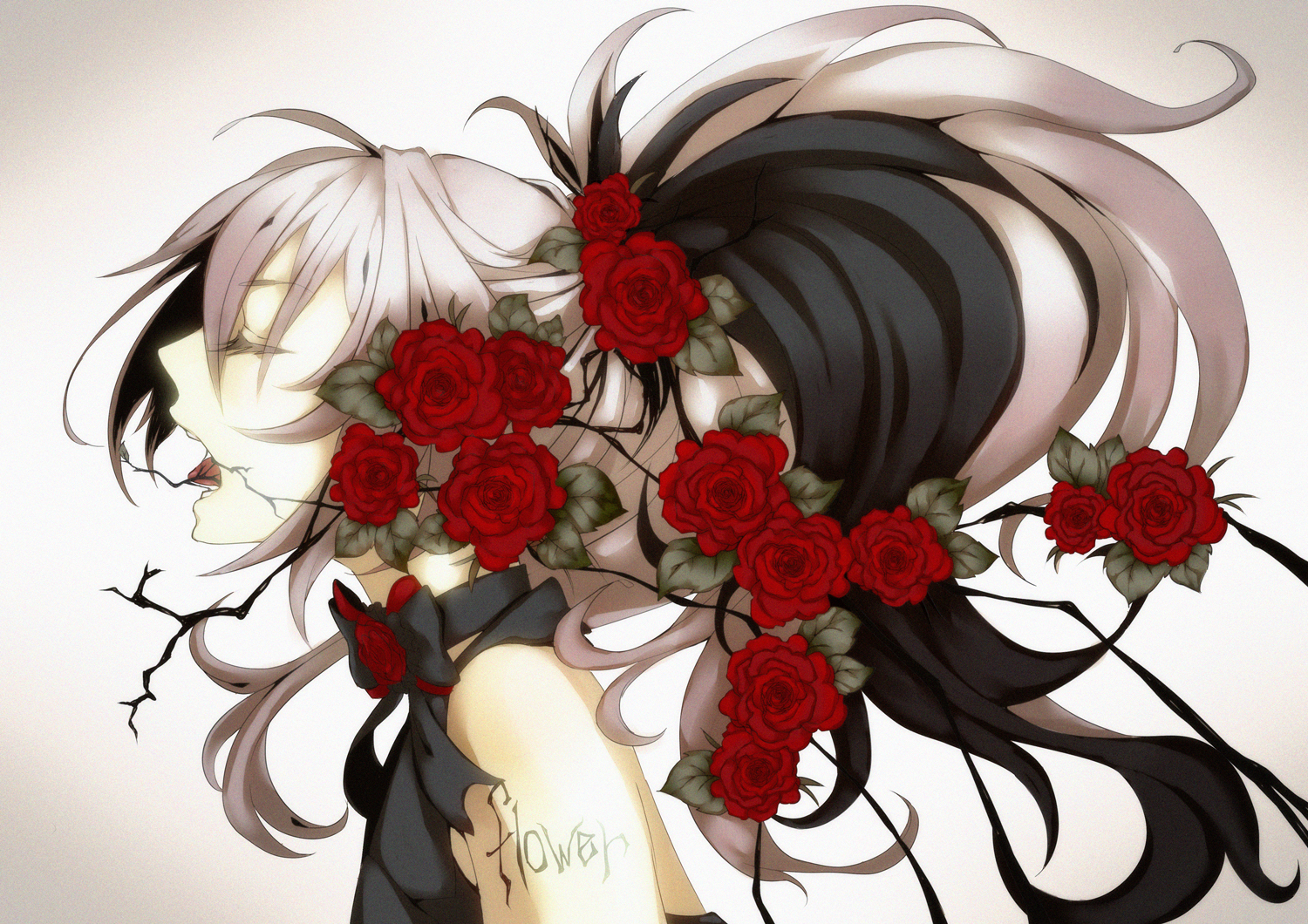 V Flower Vocaloid Zerochan Anime Image Board