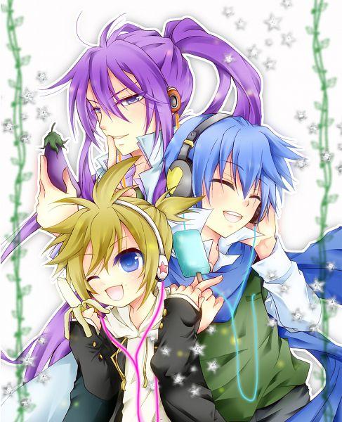 Tags: Anime, Pixiv Id 2219276, VOCALOID, Kamui Gakupo, KAITO, Kagamine Len, Eggplant