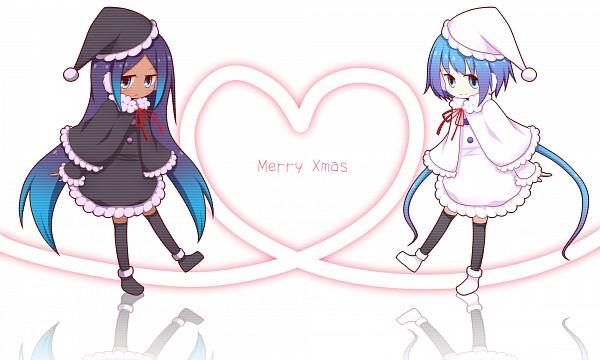Tags: Anime, Pixiv Id 1032574, VOCALOID, Aoki Lapis, Merli, Earmuffs, Sisters