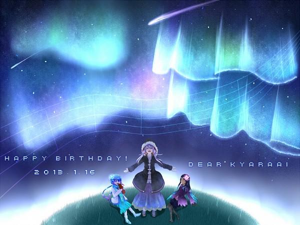 Tags: Anime, Pixiv Id 362988, Voiceroid, VOCALOID, Yuzuki Yukari, Aoki Lapis, Merli