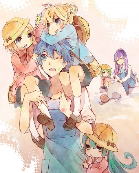 Tags: Anime, Kuroyuki, VOCALOID, Kamui Gakupo, Hatsune Miku, KAITO, Kagamine Len