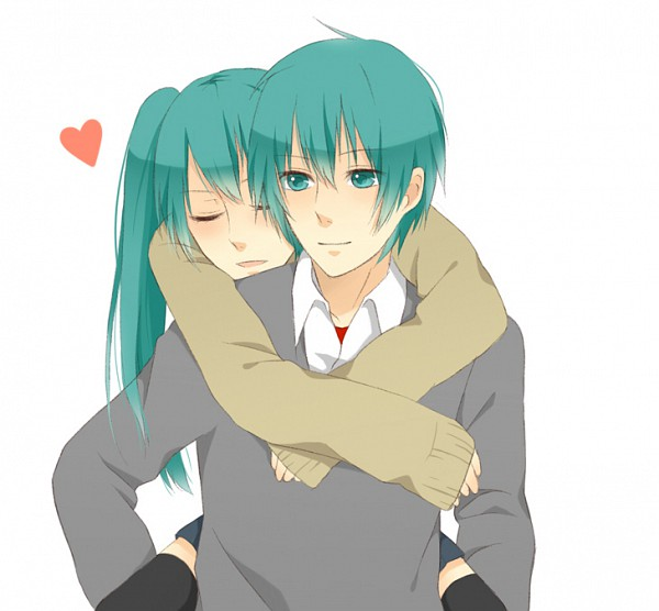 Tags: Anime, VOCALOID, Hatsune Miku, Hatsune Mikuo, Sweater, Carry
